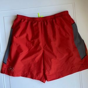 Men's Under Armour Shorts Orange XL